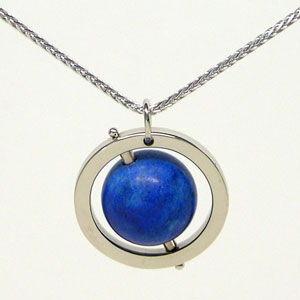 Blue Earth Pendant (18k Gold)