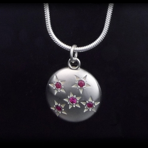 Five Ruby: Starry Sky Necklace
