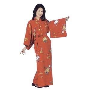Japanese Cotton Robe with Flowers